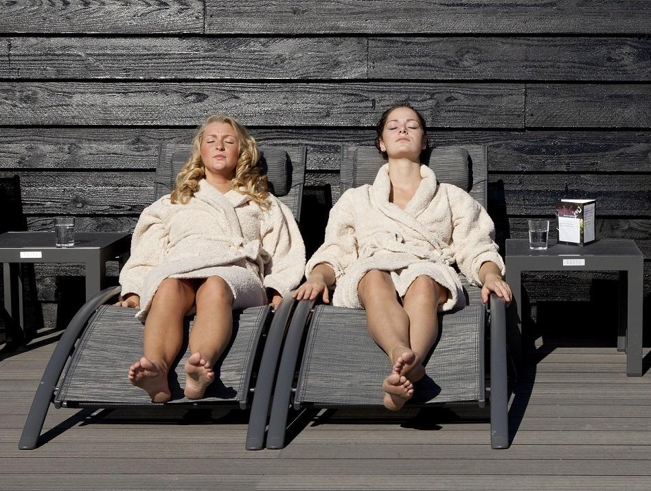 vriendinnen sauna